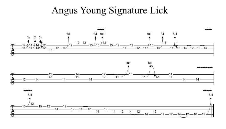 Angus Young Signature Lick