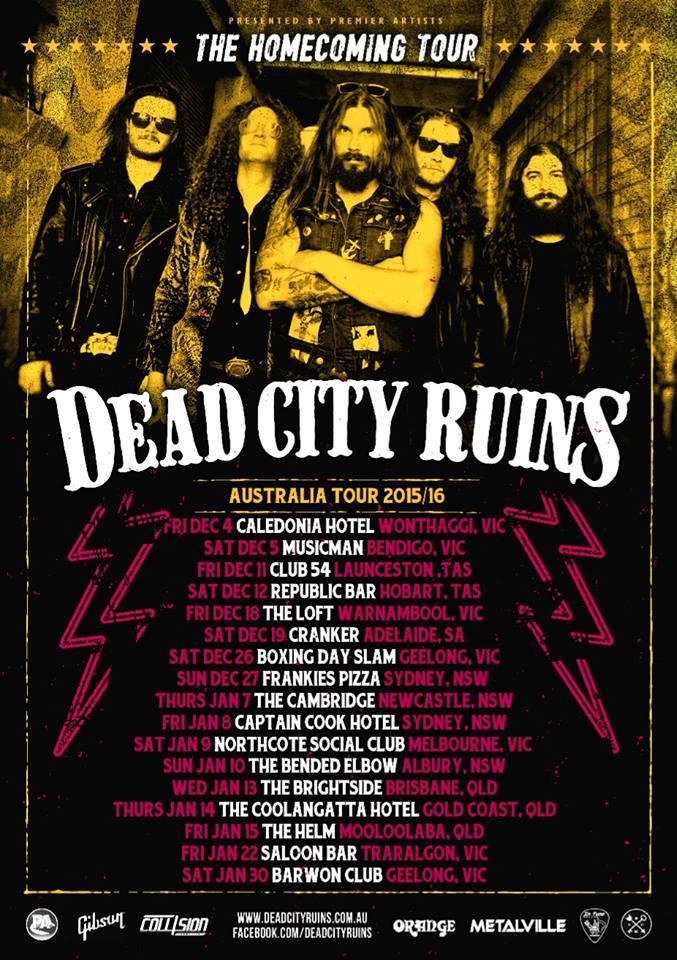 Dead City Ruins Australian Tour