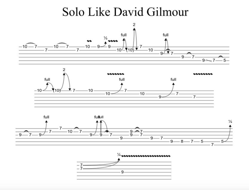 Solo Like David Gilmour