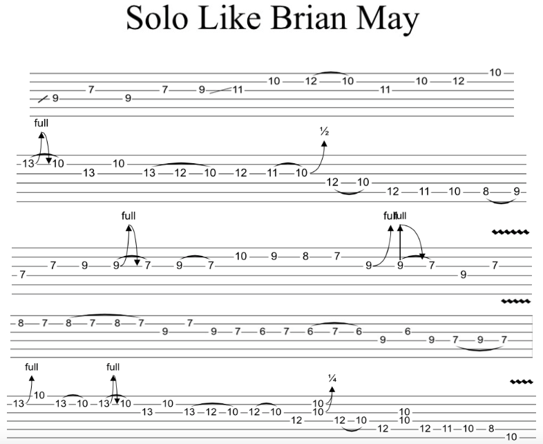 SOLO LIKE BRIAN MAY