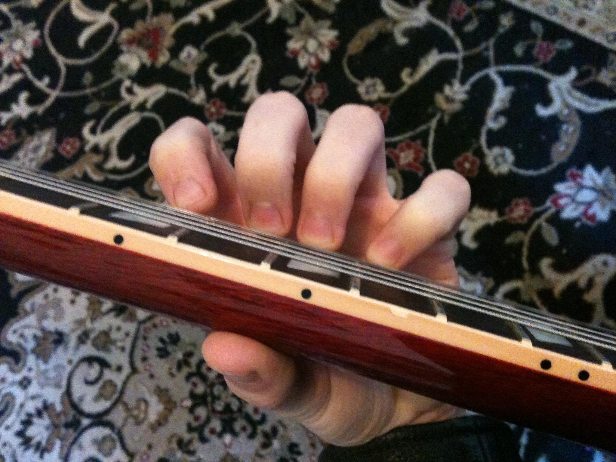 Legato Hand Postion, Fingers Curved, Finger Tips